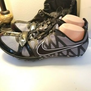 Nike Zoom Black Racing Shoes With Spikes Tool Bag